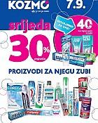 Kozmo srijeda -30% popusta na proizvode za njegu zubi