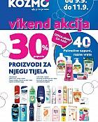 Kozmo vikend akcija -30% popusta na proizvode za njegu tijela