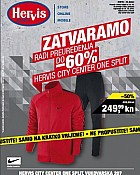Hervis katalog Zatvaranje City Center Split