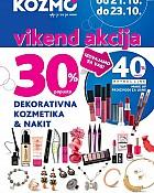 Kozmo vikend akcija -30% popusta dekorativna kozmetika i nakit
