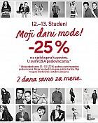 C&A akcija -25% na ukupnu kupovinu