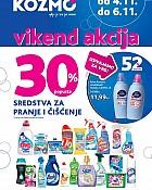 Kozmo vikend akcija -30% proizvodi za čišćenje