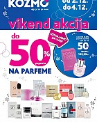 Kozmo vikend akcija do -50% na parfeme