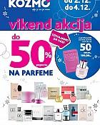 Kozmo vikend akcija do -50% na parfeme