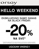 Orsay akcija Black Friday