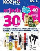 Kozmo srijeda -30% proizvodi za njegu kose