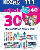 Kozmo srijeda -30% proizvodi za njegu zubi