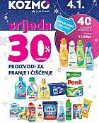 Kozmo srijeda -30% pranje čišćenje