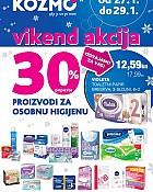 Kozmo vikend akcija -30% proizvodi za osobnu higijenu