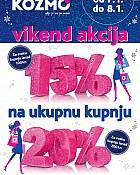 Kozmo vikend akcija -15% ili -20% popusta na ukupnu kupnju