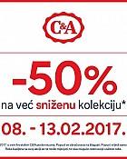 C&A akcija -50% popusta na sniženu kolekciju veljača 2017