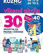 Kozmo vikend akcija -30% popusta sredstva za čišćenje