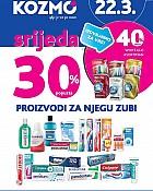 Kozmo srijeda -30% popusta proizvodi za njegu zubi