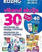 Kozmo vikend akcija -30% čišćenje i proizvodi za kućne ljubimce