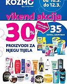 Kozmo vikend akcija -30% popusta proizvodi za njegu tijela
