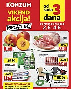 Konzum vikend akcija do 4.6.