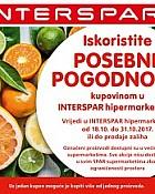 Interspar kuponi prehrana listopad 2017