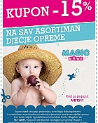 Magic Baby kupon -15% na dječju opremu