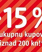 DM akcija -15% na ukupnu kupnju