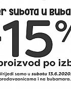 Bubamara akcija Super subota