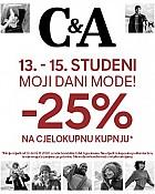C&A akcija Moji dani mode sa -25% popusta