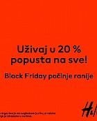 H&M Black Friday -20% na sve