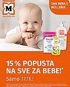 Muller akcija Dan beba -15% popusta