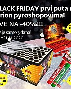 Orion pirotehnika akcija Black Friday