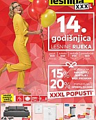 Lesnina katalog XXXL popusti do 18.1.