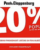 Peek & Cloppenburg popust 20% na sniženo