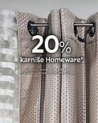 Lesnina webshop akcija 20% na karniše Homeware