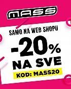 Mass webshop akcija 20% na sve