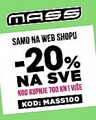 Mass webshop akcija za vikend 20% popusta