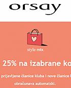 Orsay webshop akcija 25% popusta
