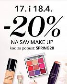 Douglas webshop akcija 20% na sav make up