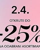 Douglas webshop akcija do 25% na odabrani asortiman
