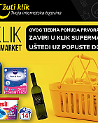 Žuti klik webshop akcija Supermarket do 50%