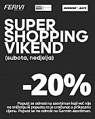 Ferivi Sport webshop akcija Super shopping vikend do 02.05.