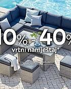 Lesnina webshop akcija do 40% na vrtni namještaj