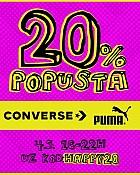 Shooster webshop akcija 20% na Converse i Puma