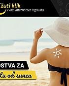 Žuti klik webshop akcija Sredstva za zaštitu od sunca