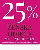 Mana webshop akcija 25% popusta na žensku odjeću