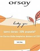 Orsay webshop akcija 20% popusta na sve