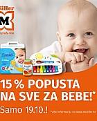 Muller akcija -15% popusta na sve za bebe listopad 2021