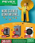 Pevex katalog Niske cijene u kišno vrijeme
